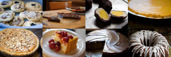 Cookies, tarts, bundt cake, hand dipped chocolates and more